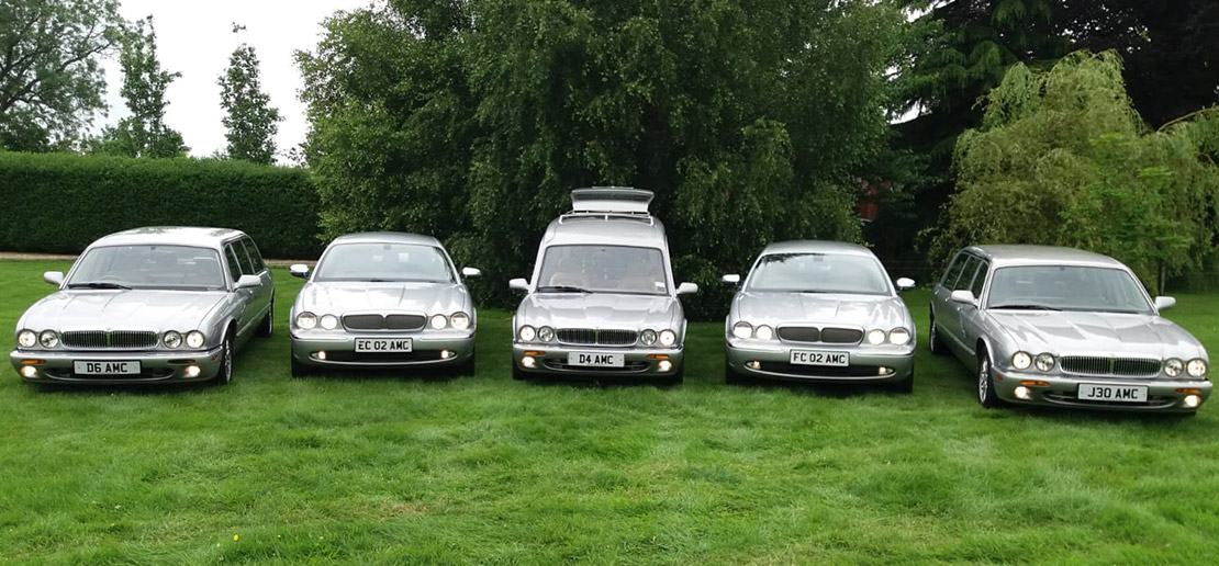 Silver funeral cars