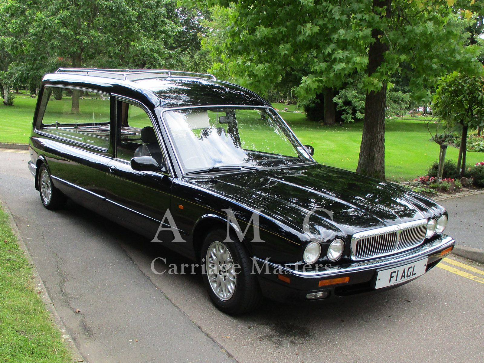 Black Daimler Jaguar XJ X300 Model Hearse