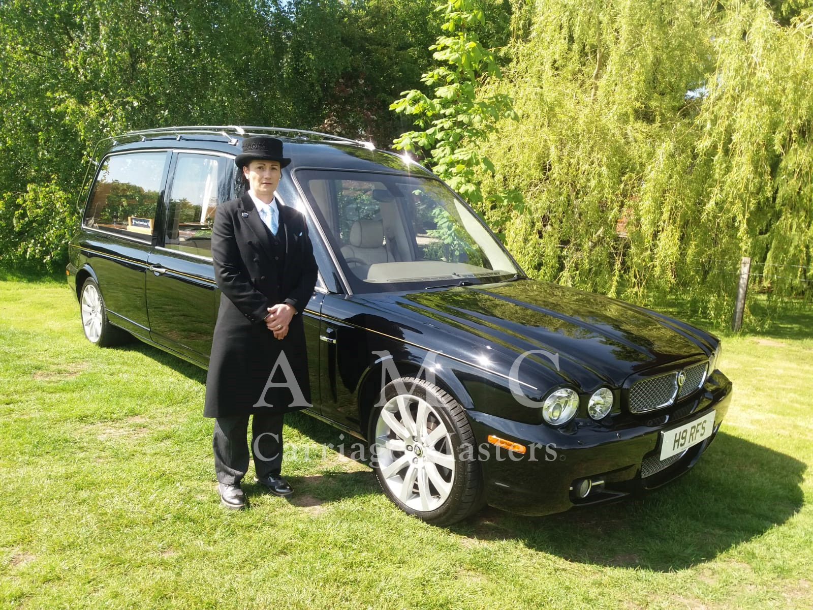 Black Jaguar XJ Hearse