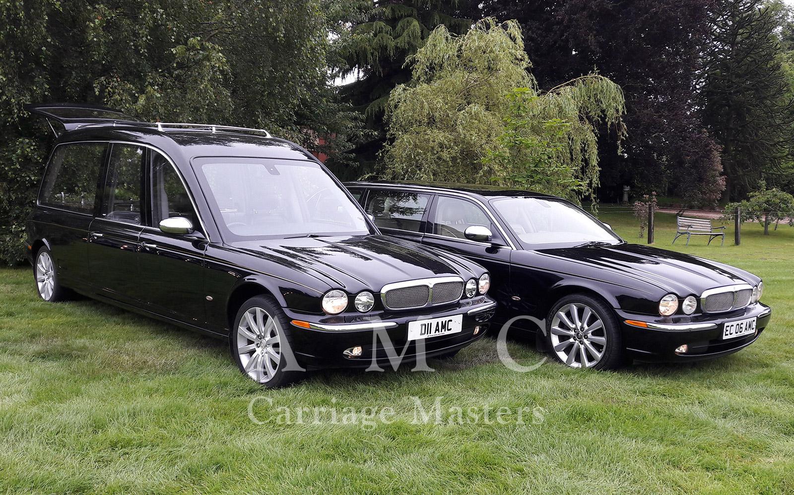 Black Jaguar XJ X350 Model Hearse