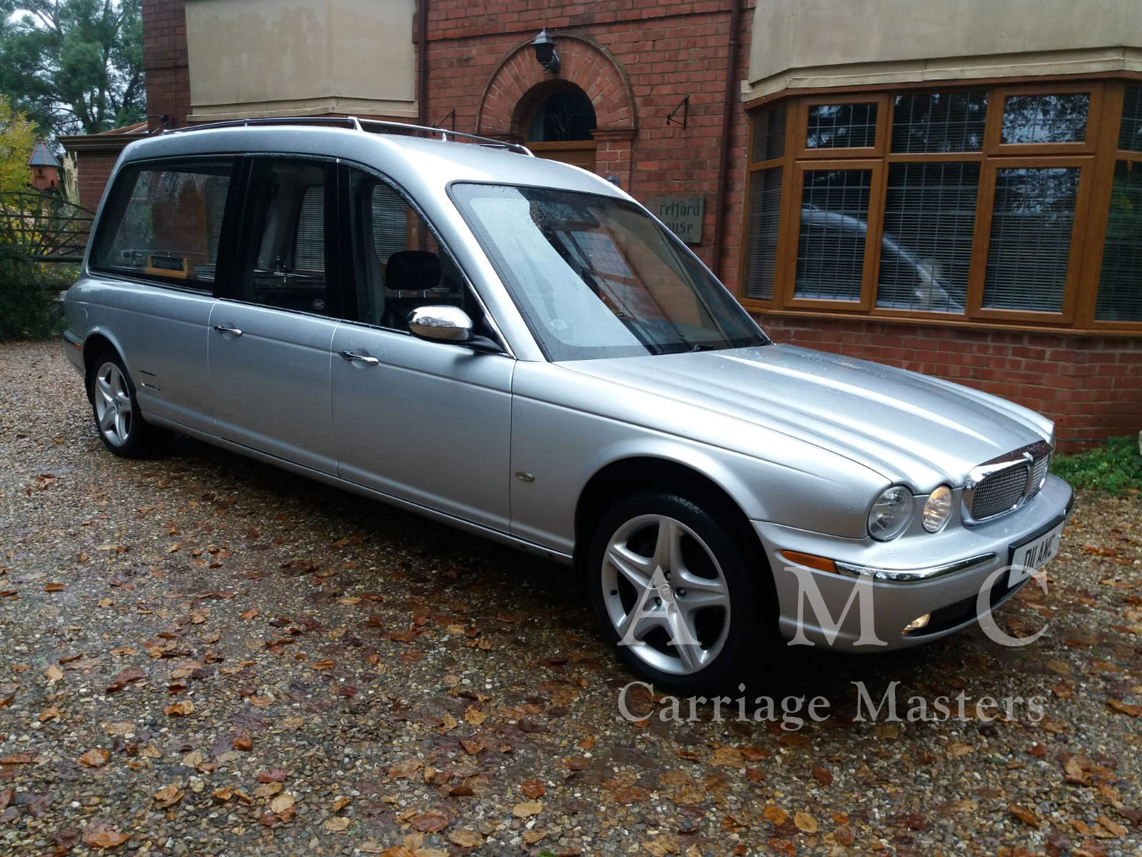 Silver Jaguar XJ X350 Model Hearse